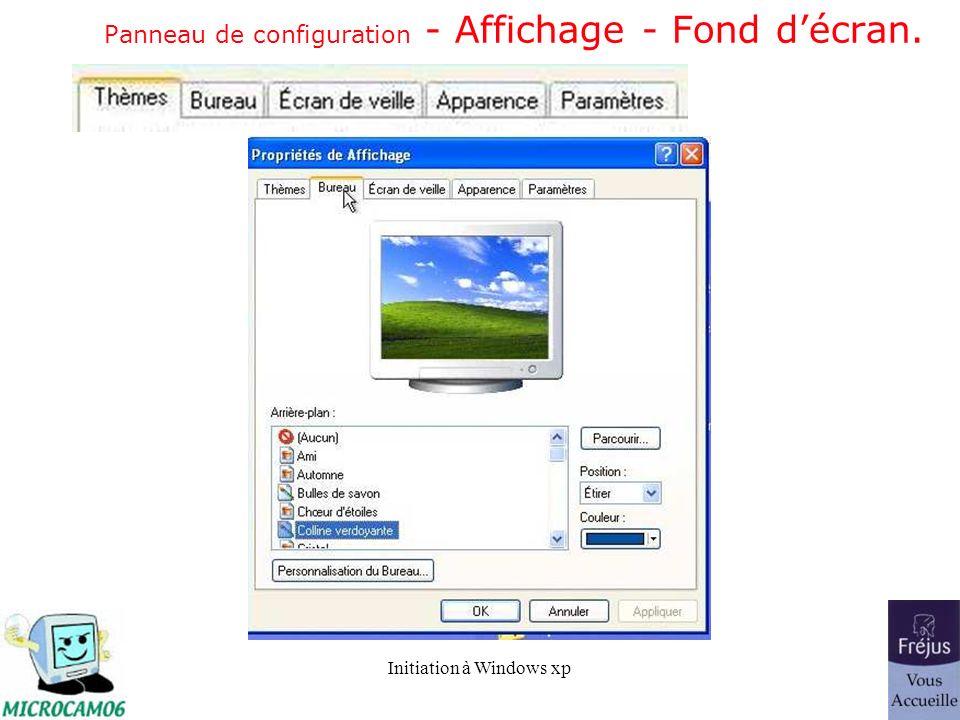 Panneau de configuration - Affichage - Fond d'écran.