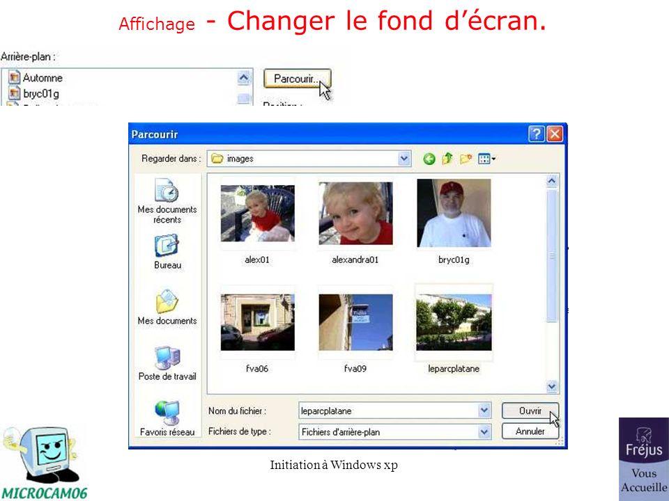 Affichage - Changer le fond d'écran.