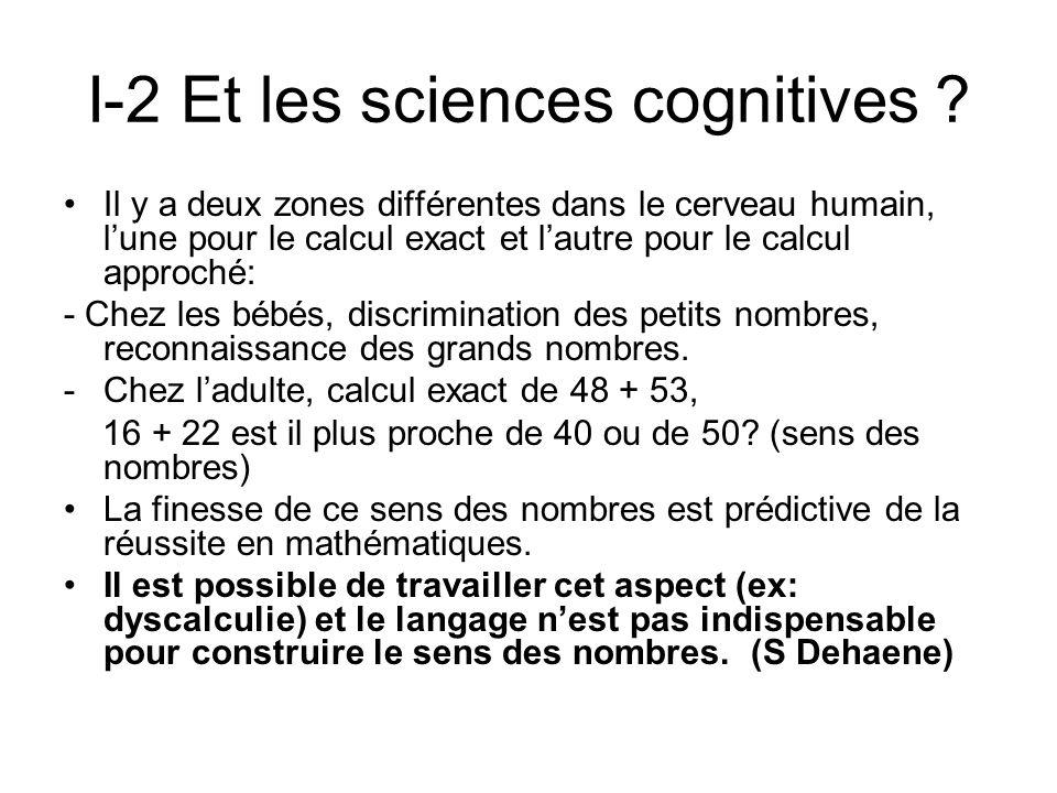 I-2 Et les sciences cognitives