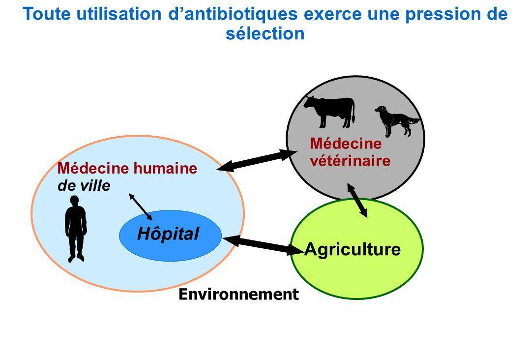 Toute utilisation d'antibiotiques exerce une pression de sélection