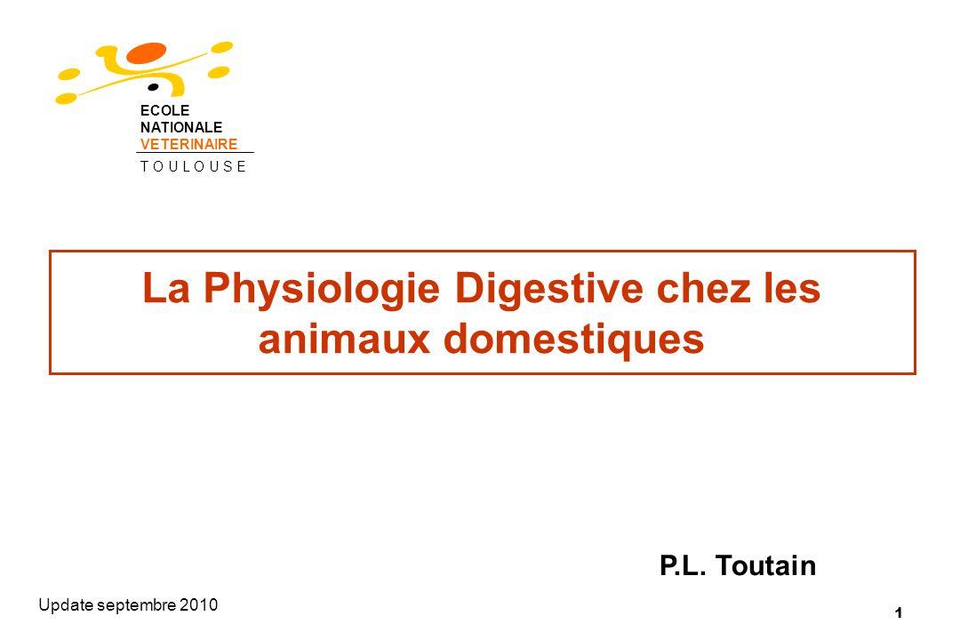 La Physiologie Digestive chez les animaux domestiques