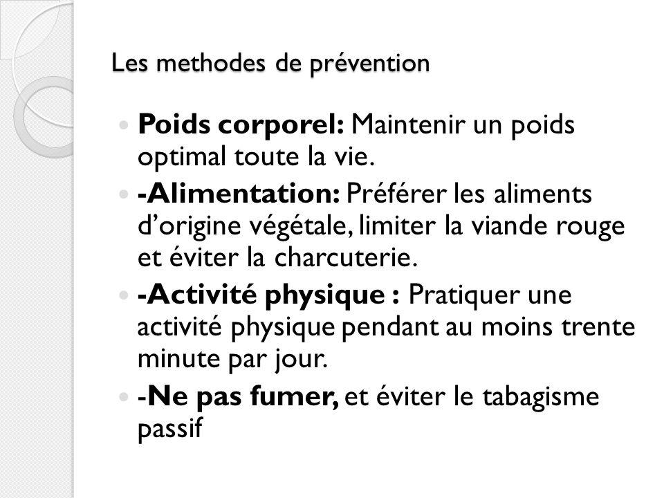 Les methodes de prévention
