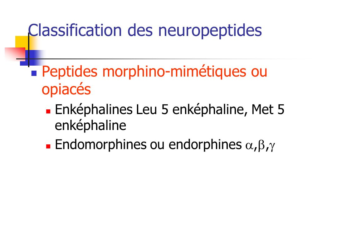 Classification des neuropeptides