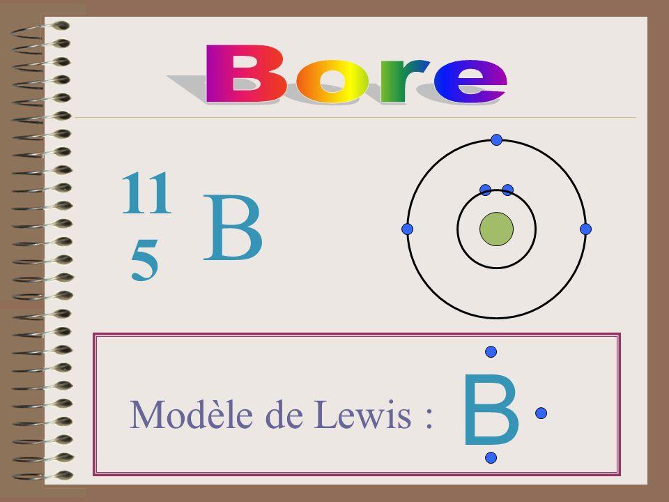 Bore 11 B 5 B Modèle de Lewis :