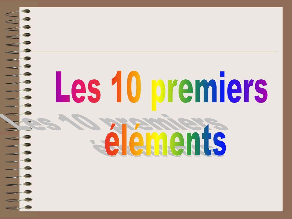 Les 10 premiers éléments