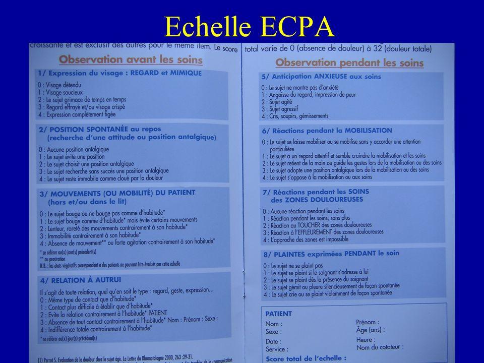 Echelle ECPA