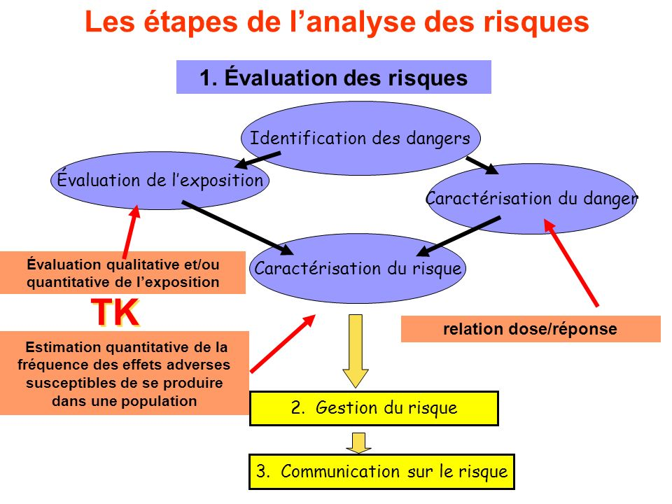 Les étapes de l'analyse des risques