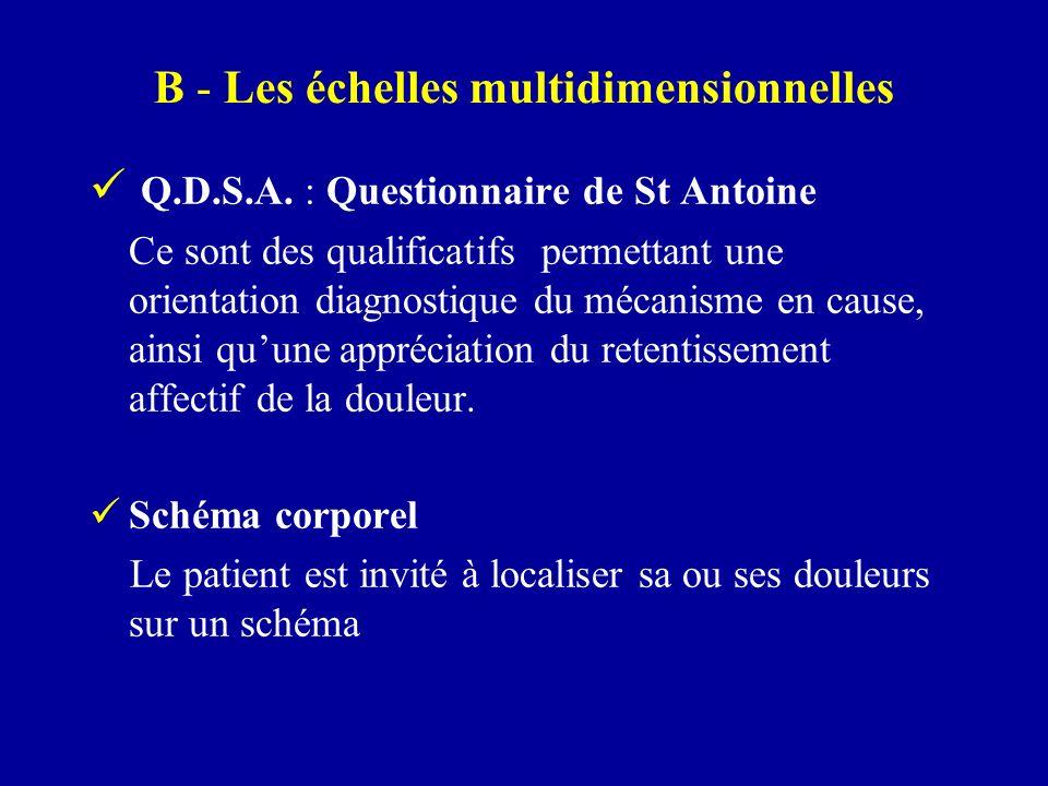 B - Les échelles multidimensionnelles