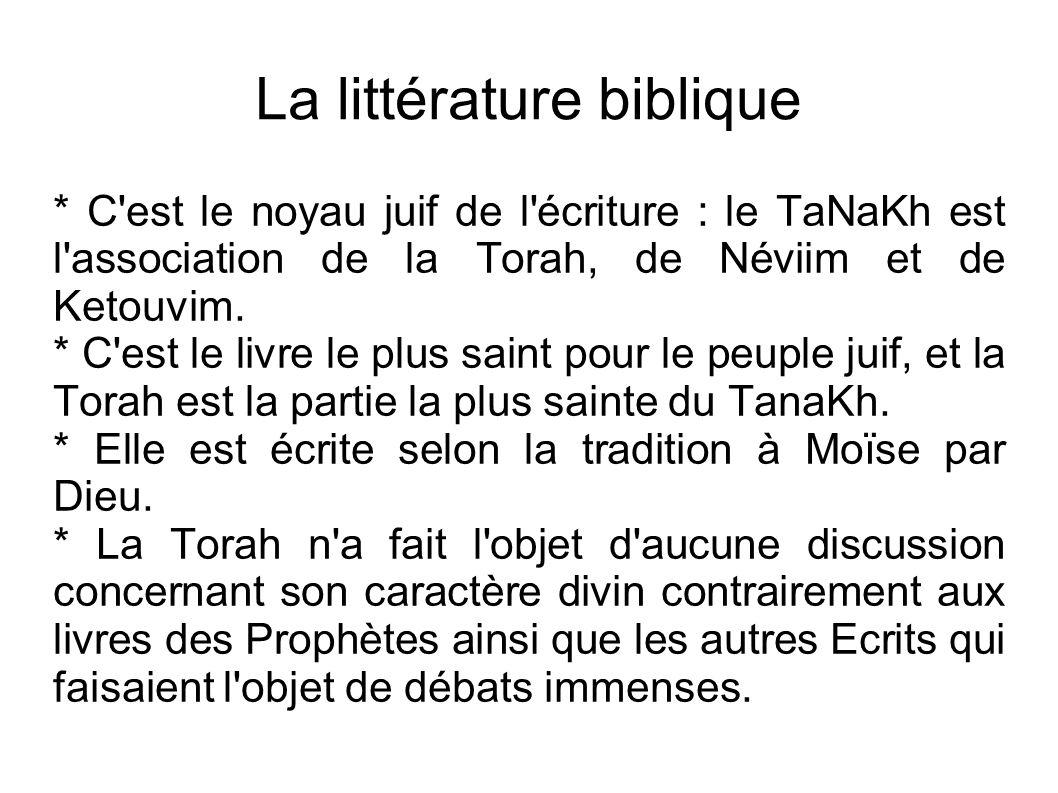 La littérature biblique