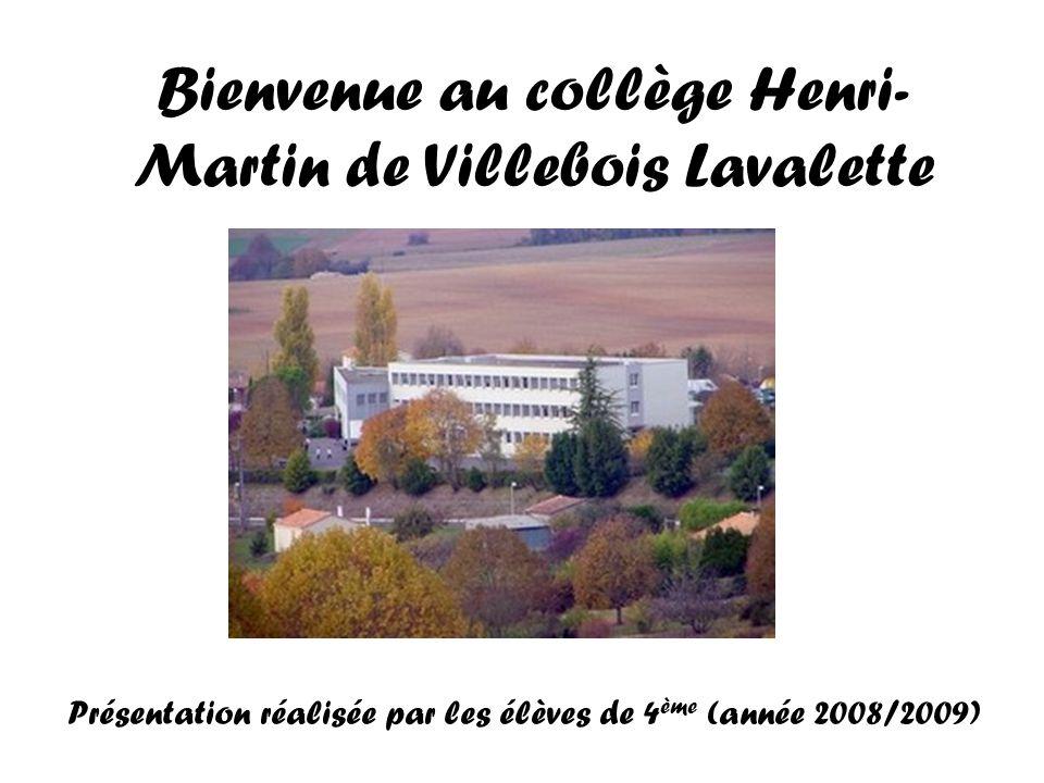 Bienvenue au collège Henri-Martin de Villebois Lavalette