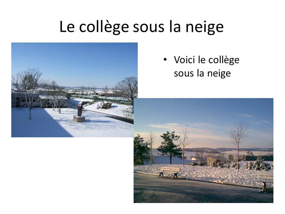 Le collège sous la neige