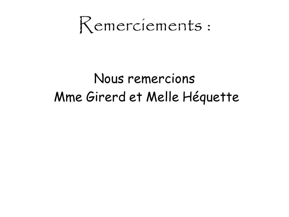 Mme Girerd et Melle Héquette