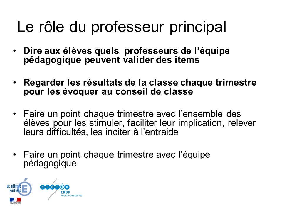 Le rôle du professeur principal