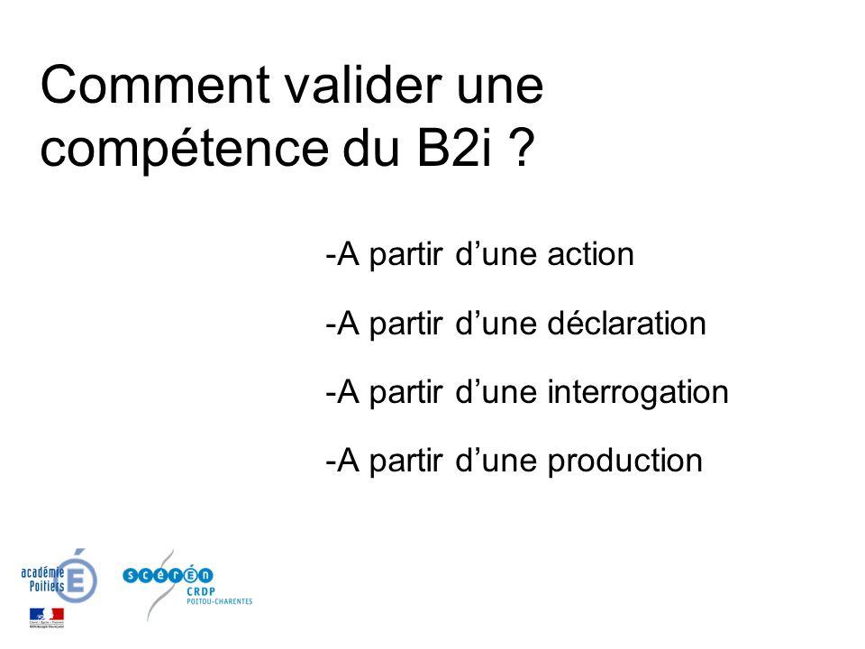 Comment valider une compétence du B2i