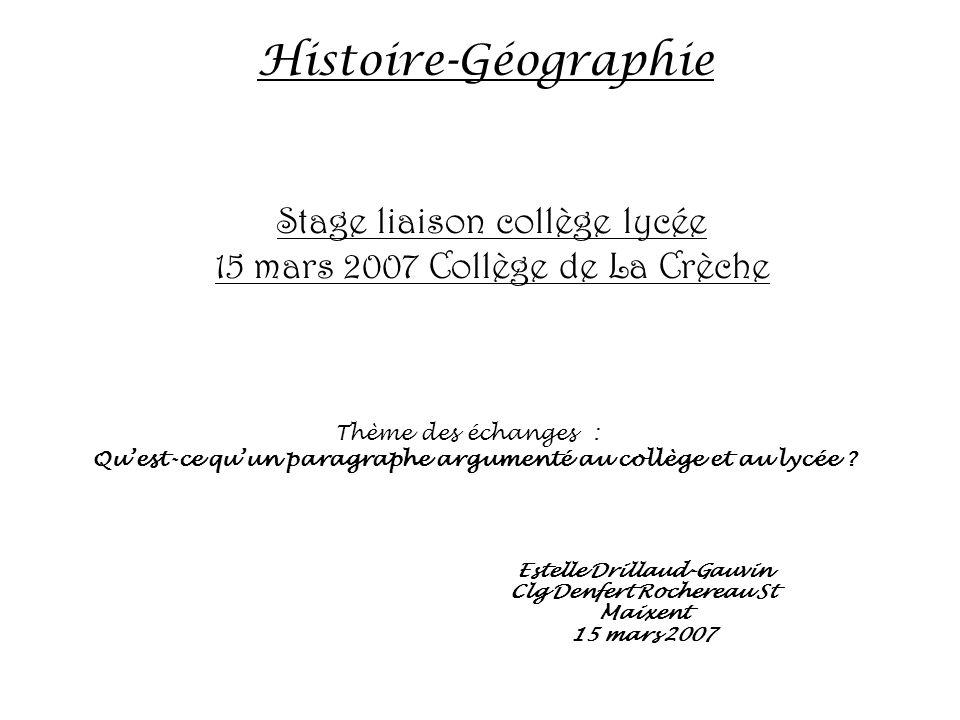 Estelle Drillaud-Gauvin Clg Denfert Rochereau St Maixent 15 mars 2007