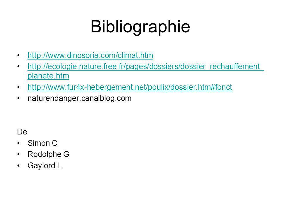 Bibliographie http://www.dinosoria.com/climat.htm