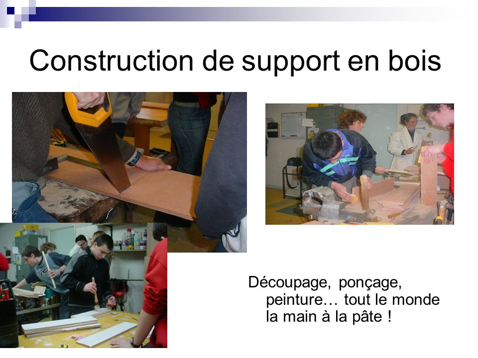Construction de support en bois