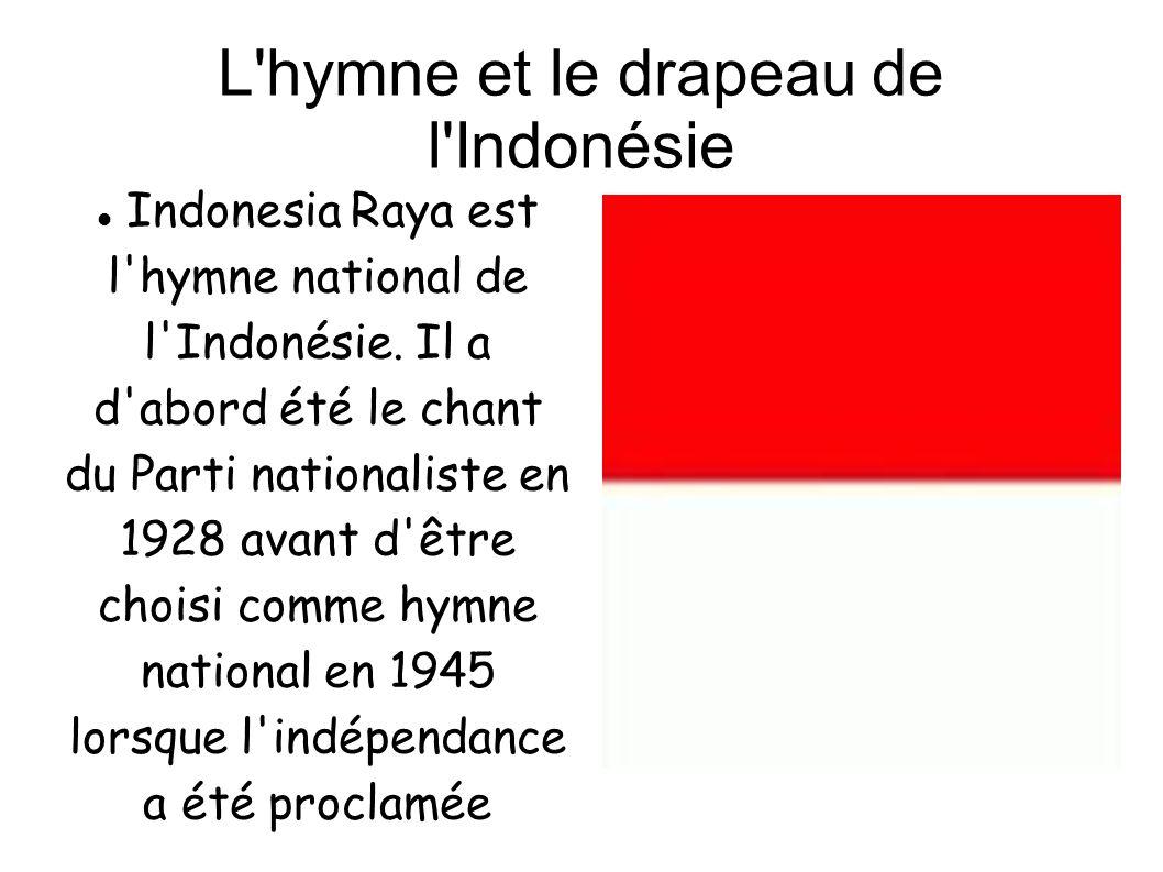 L hymne et le drapeau de l Indonésie