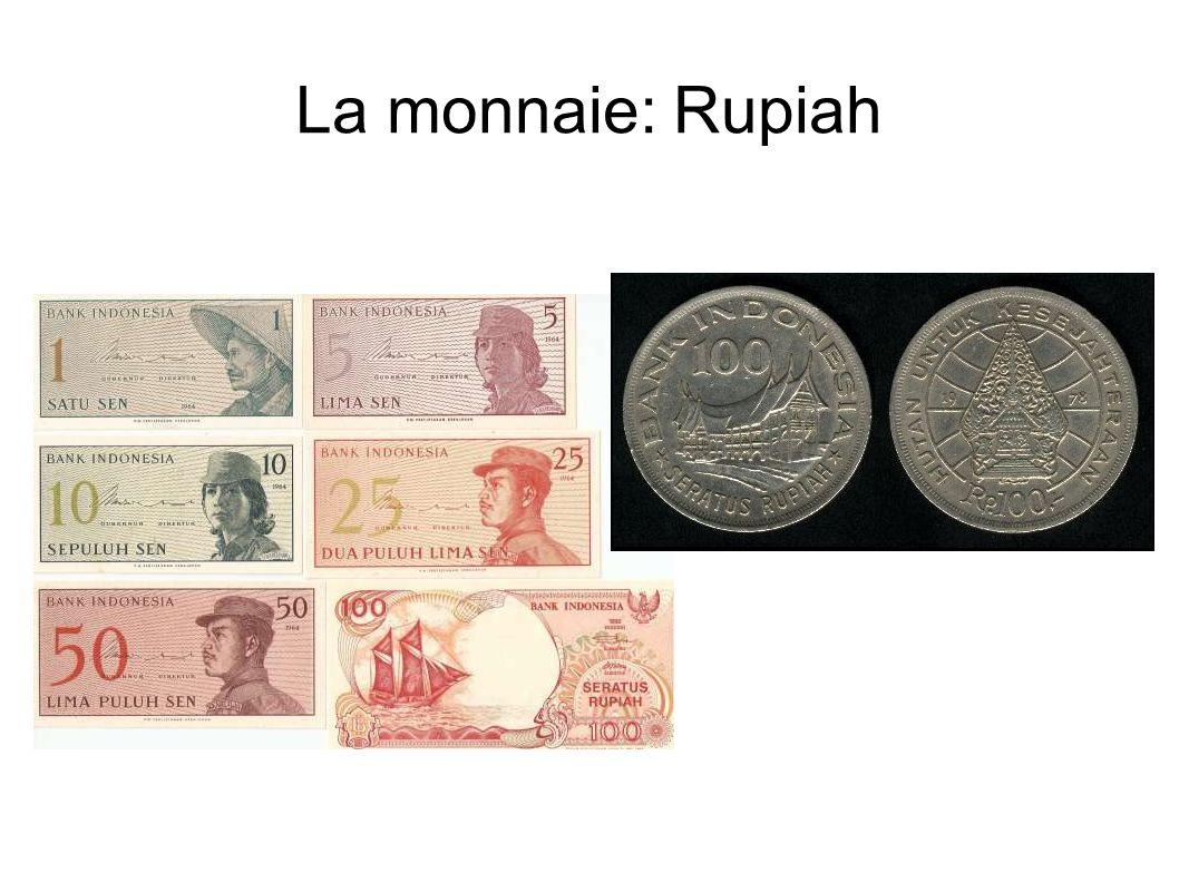 La monnaie: Rupiah