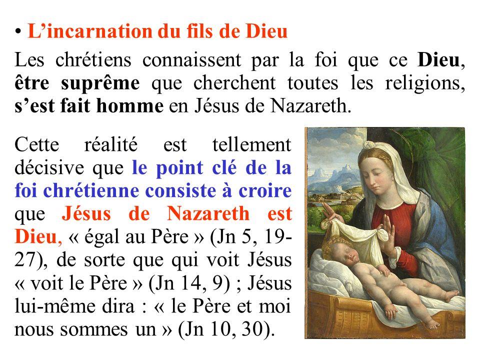 L'incarnation du fils de Dieu
