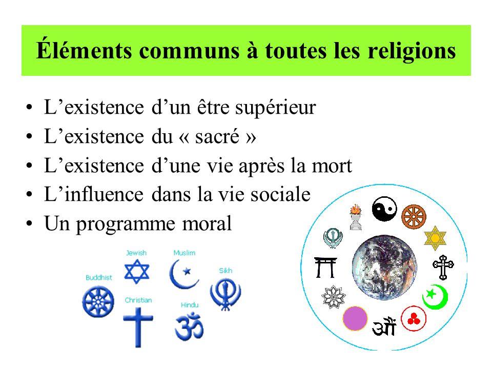 Éléments communs à toutes les religions