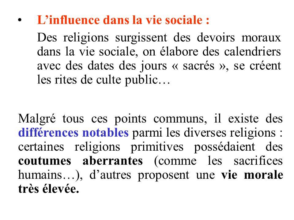 L'influence dans la vie sociale :