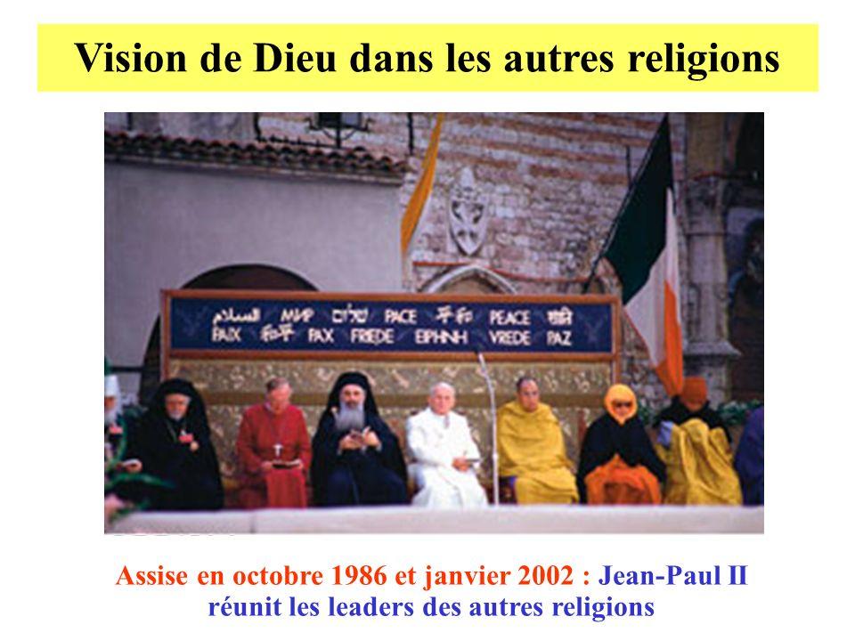 Vision de Dieu dans les autres religions