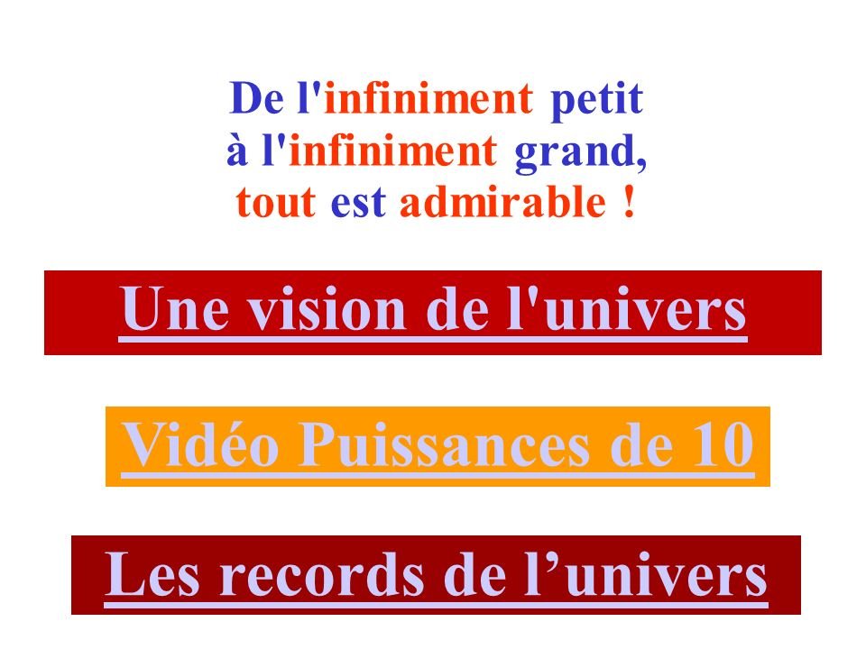 Les records de l'univers