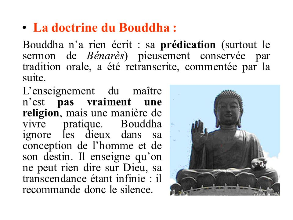 La doctrine du Bouddha :