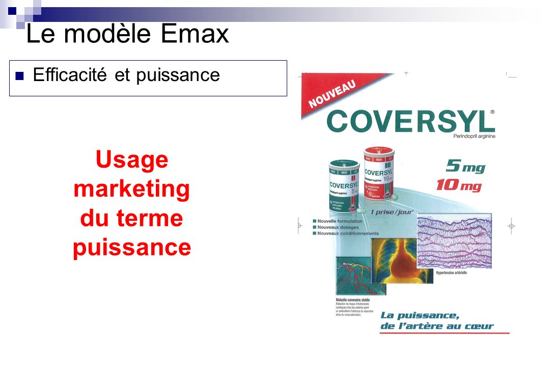 Le modèle Emax Usage marketing du terme puissance