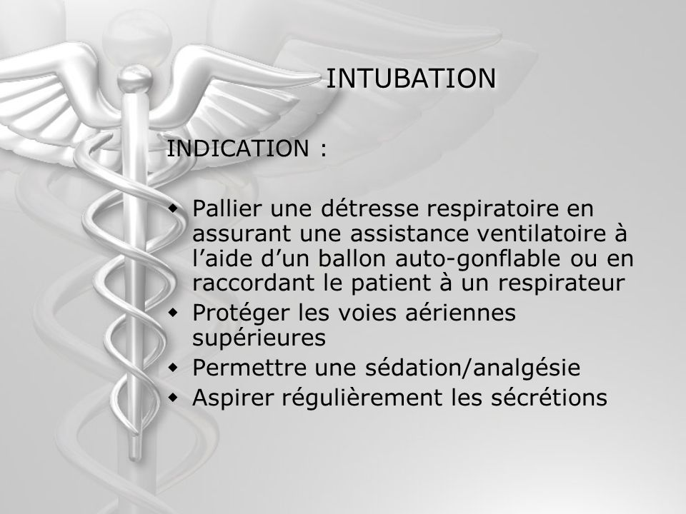 INTUBATION INDICATION :