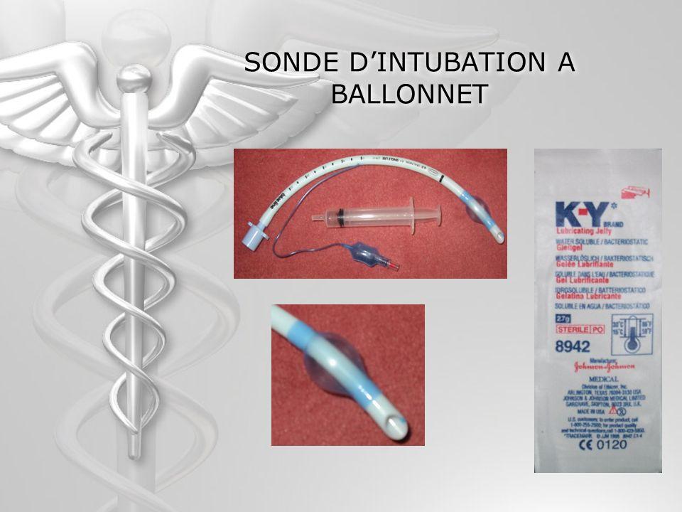 SONDE D'INTUBATION A BALLONNET