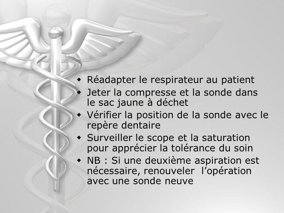 Réadapter le respirateur au patient