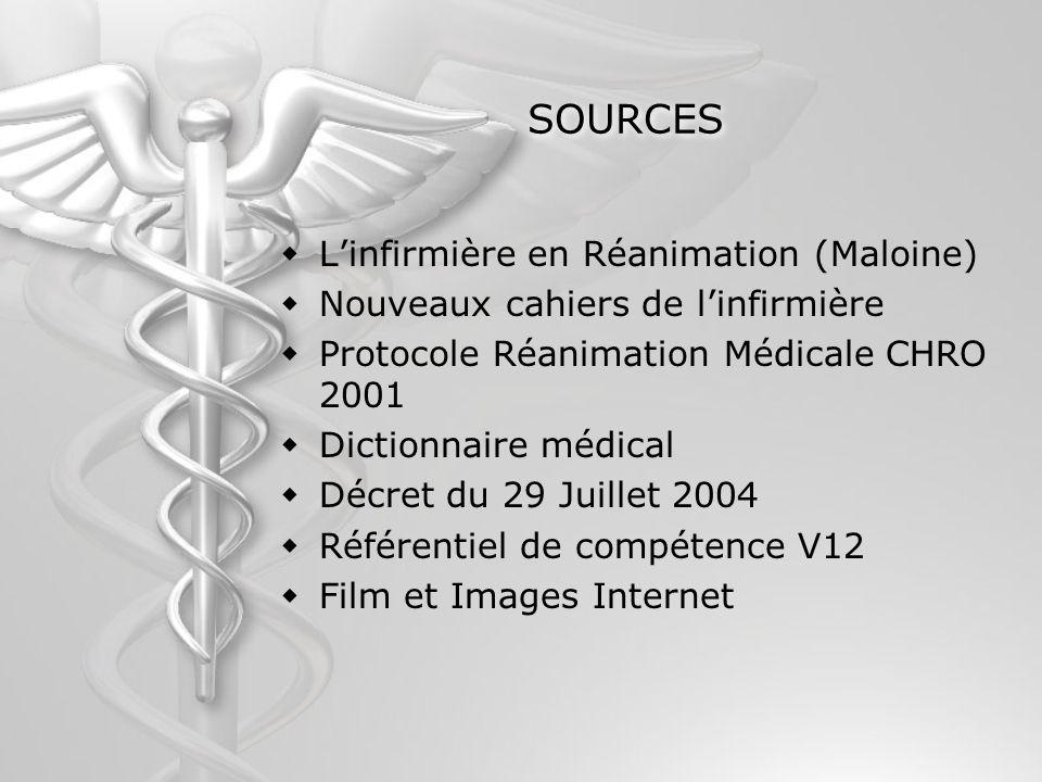 SOURCES L'infirmière en Réanimation (Maloine)