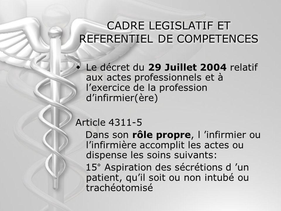 CADRE LEGISLATIF ET REFERENTIEL DE COMPETENCES