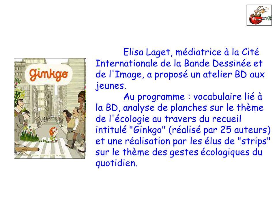 Elisa Laget, médiatrice à la Cité Internationale de la Bande Dessinée et de l Image, a proposé un atelier BD aux jeunes.