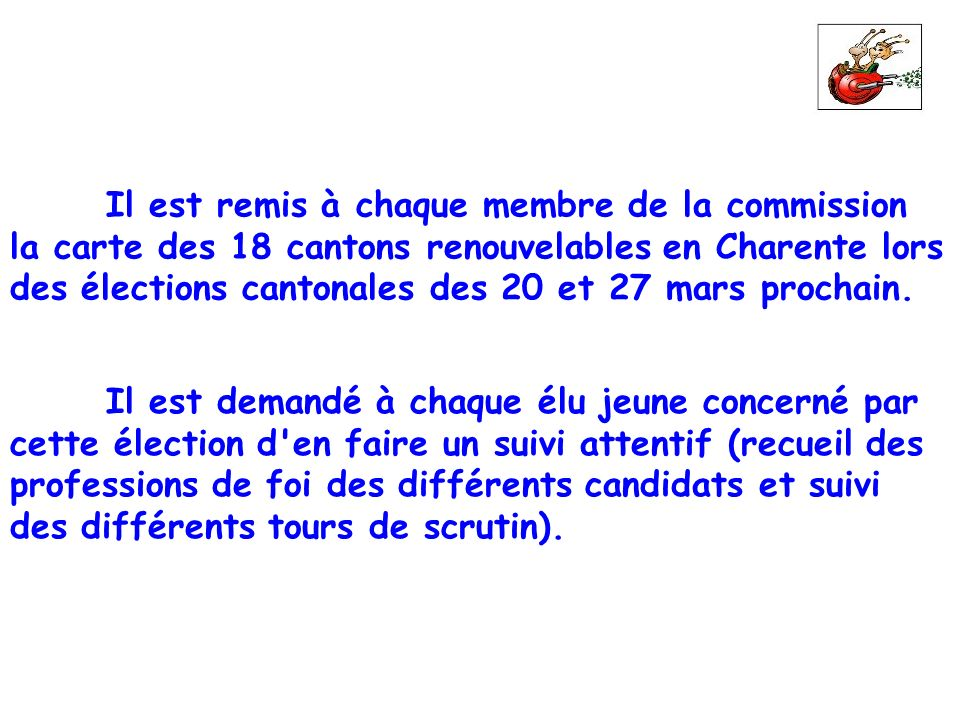 la carte des 18 cantons renouvelables en Charente lors