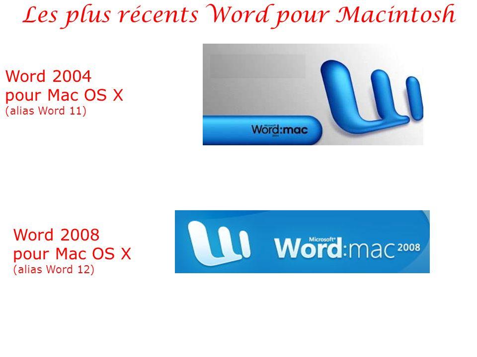 Les plus récents Word pour Macintosh