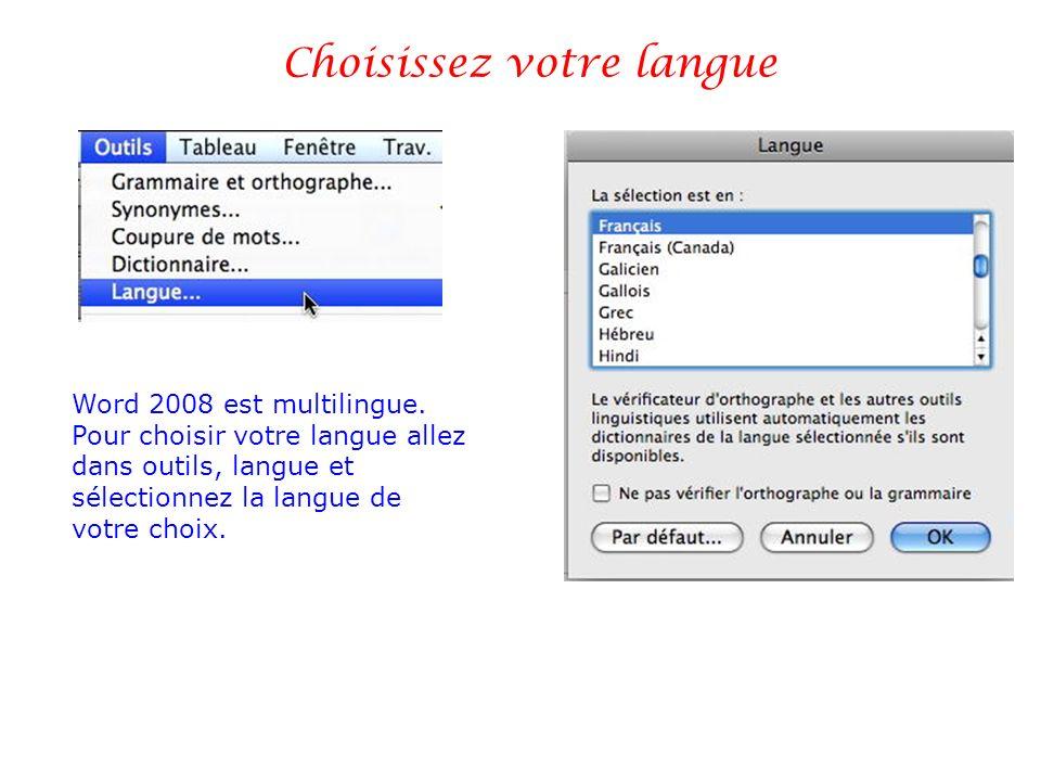 Choisissez votre langue