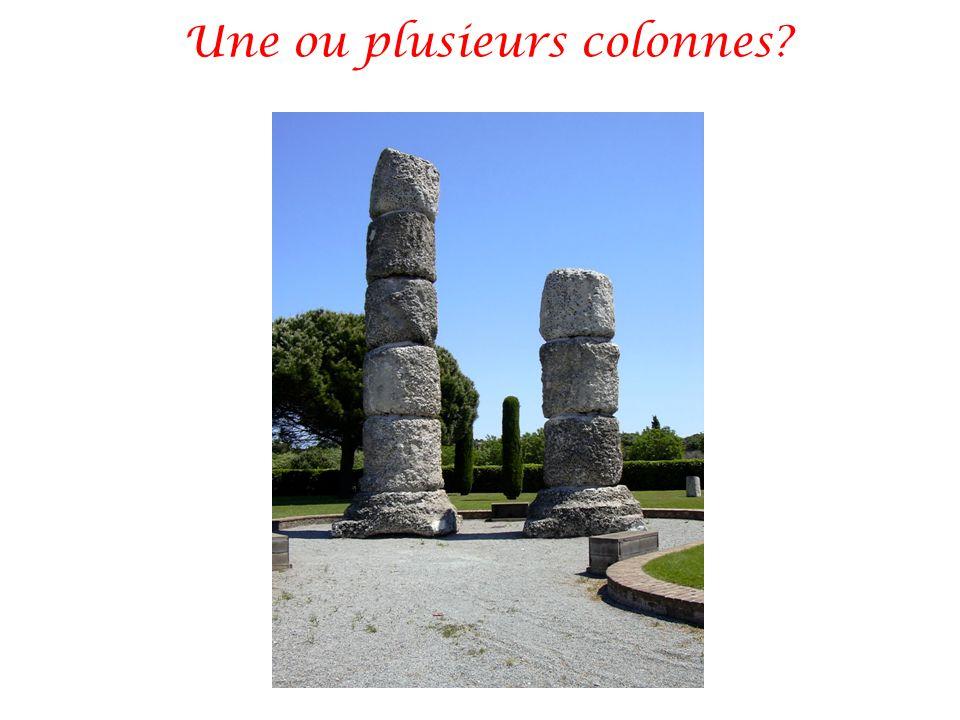 Une ou plusieurs colonnes