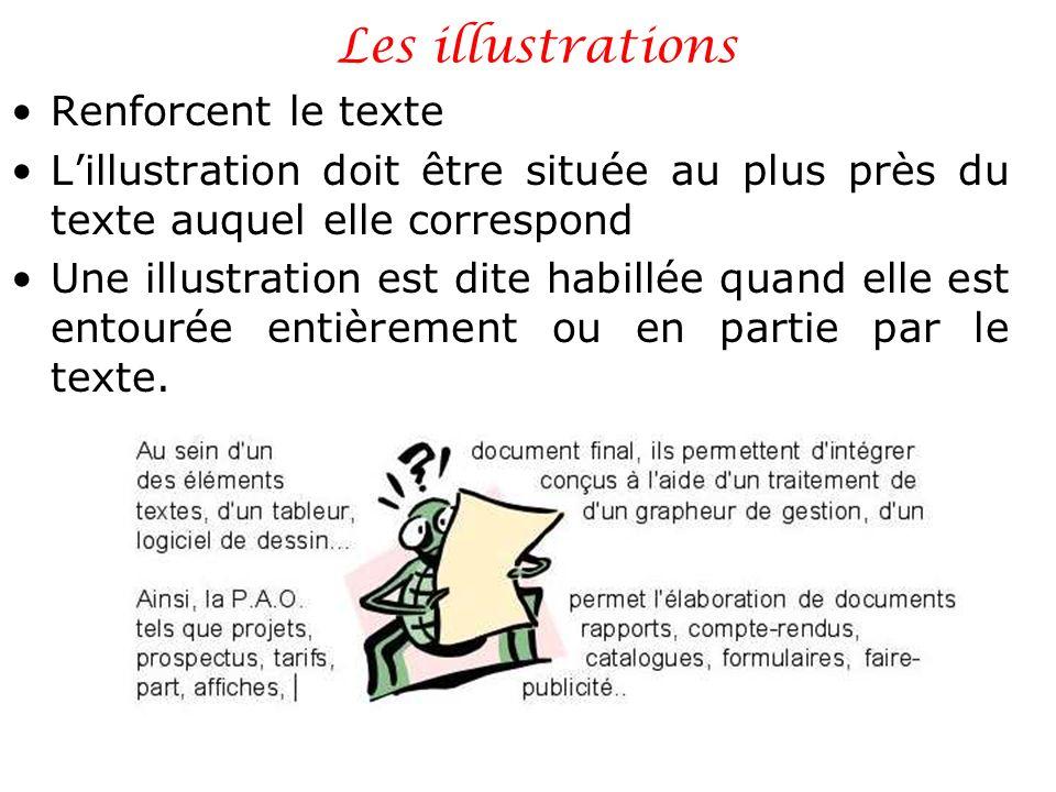 Les illustrations Renforcent le texte