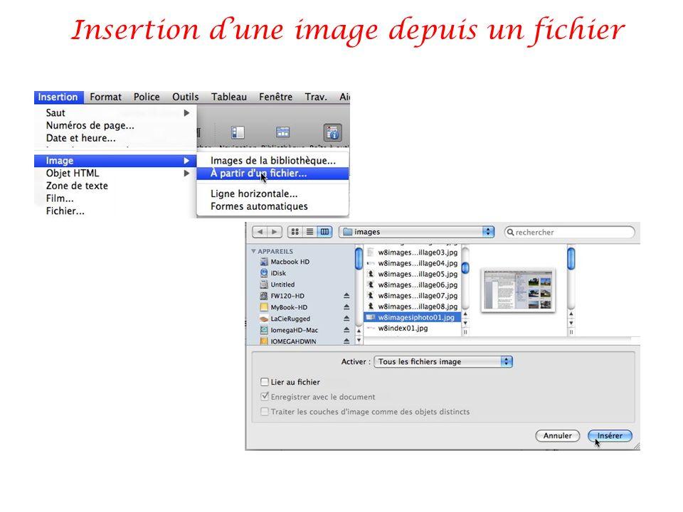 Insertion d'une image depuis un fichier
