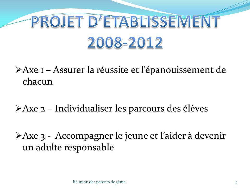 PROJET D'ETABLISSEMENT 2008-2012
