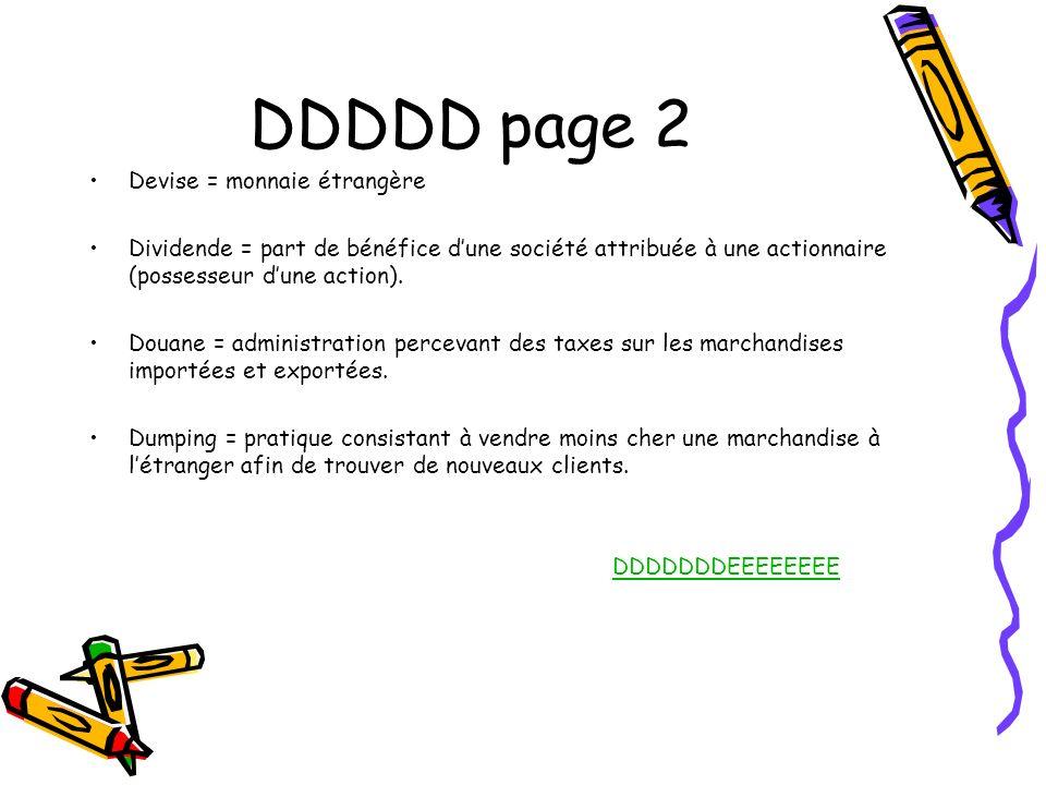 DDDDD page 2 Devise = monnaie étrangère