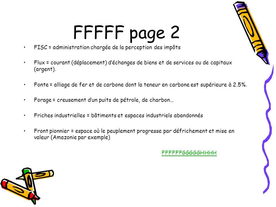 FFFFF page 2 FISC = administration chargée de la perception des impôts