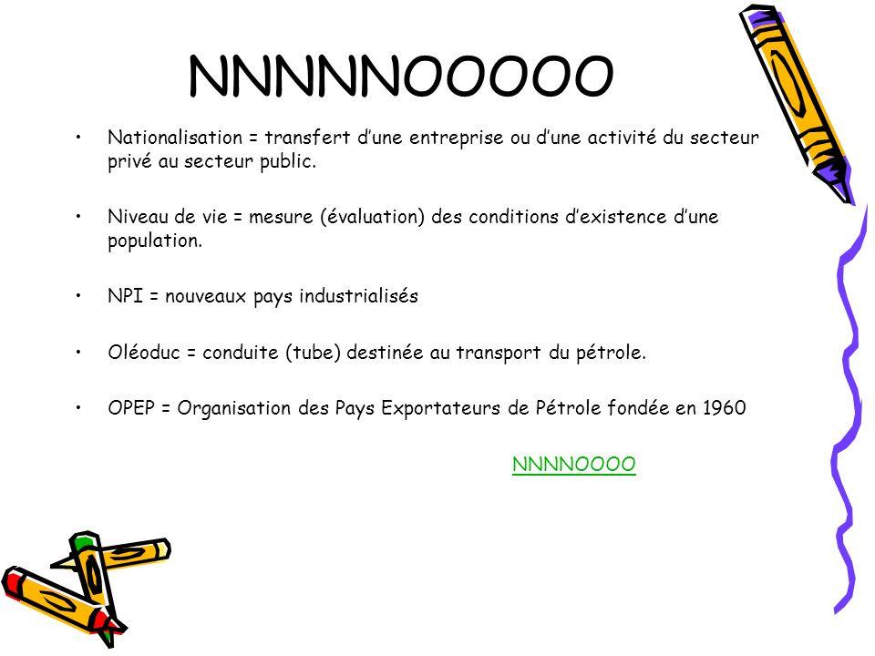 NNNNNOOOOO Nationalisation = transfert d'une entreprise ou d'une activité du secteur privé au secteur public.