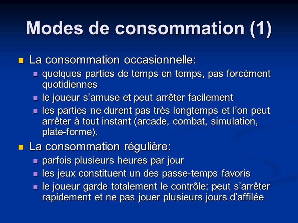 Modes de consommation (1)