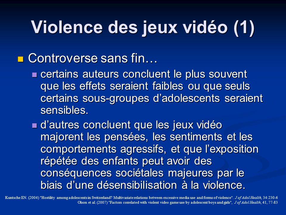 Violence des jeux vidéo (1)