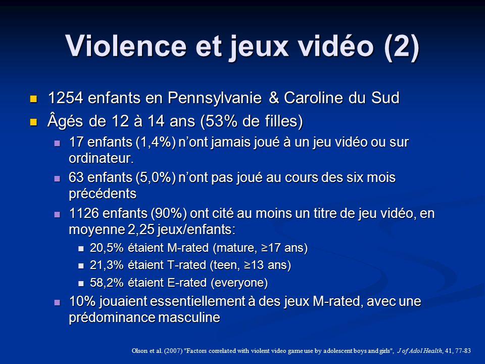 Violence et jeux vidéo (2)