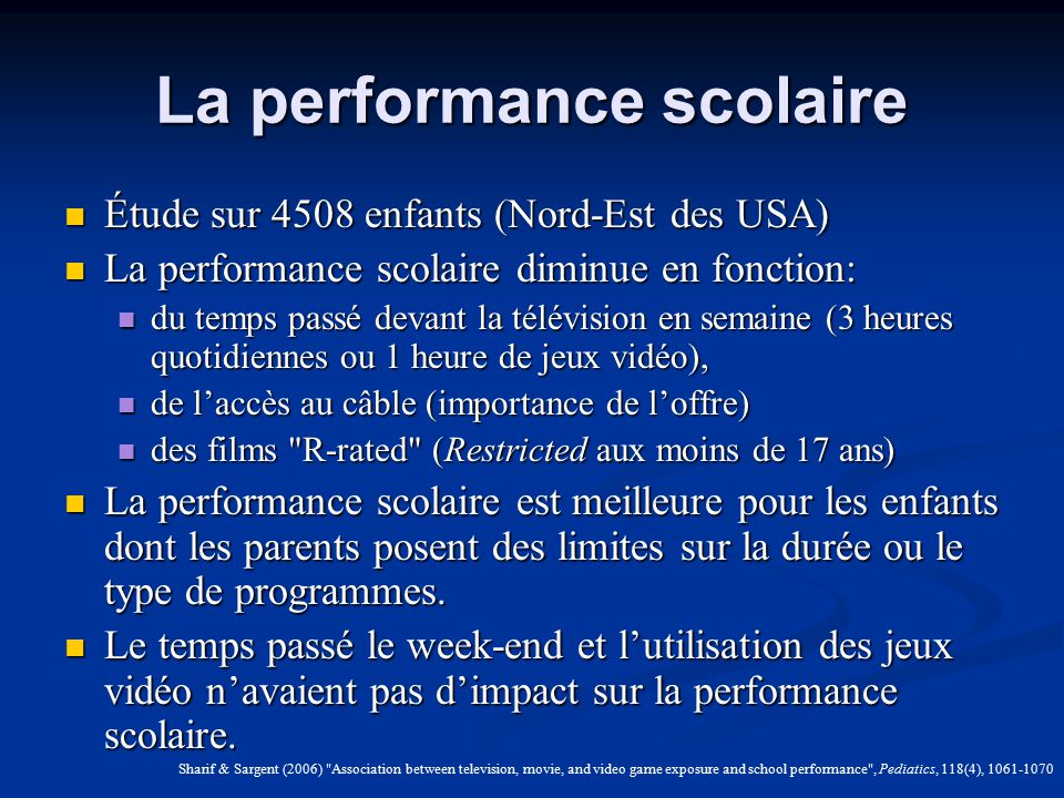 La performance scolaire